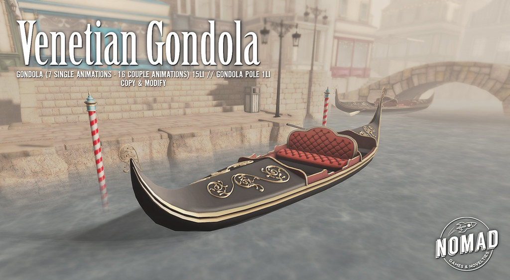 NOMAD // Venetian Gondola - SecondLifeHub.com