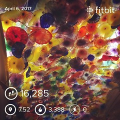 Day one in vegas off to a good start #gettingmystepsintoday #fitbitalta #fitbit #overachiever #thestriplasvegas #vacationtime #springbreak2017 #girlsweekendaway