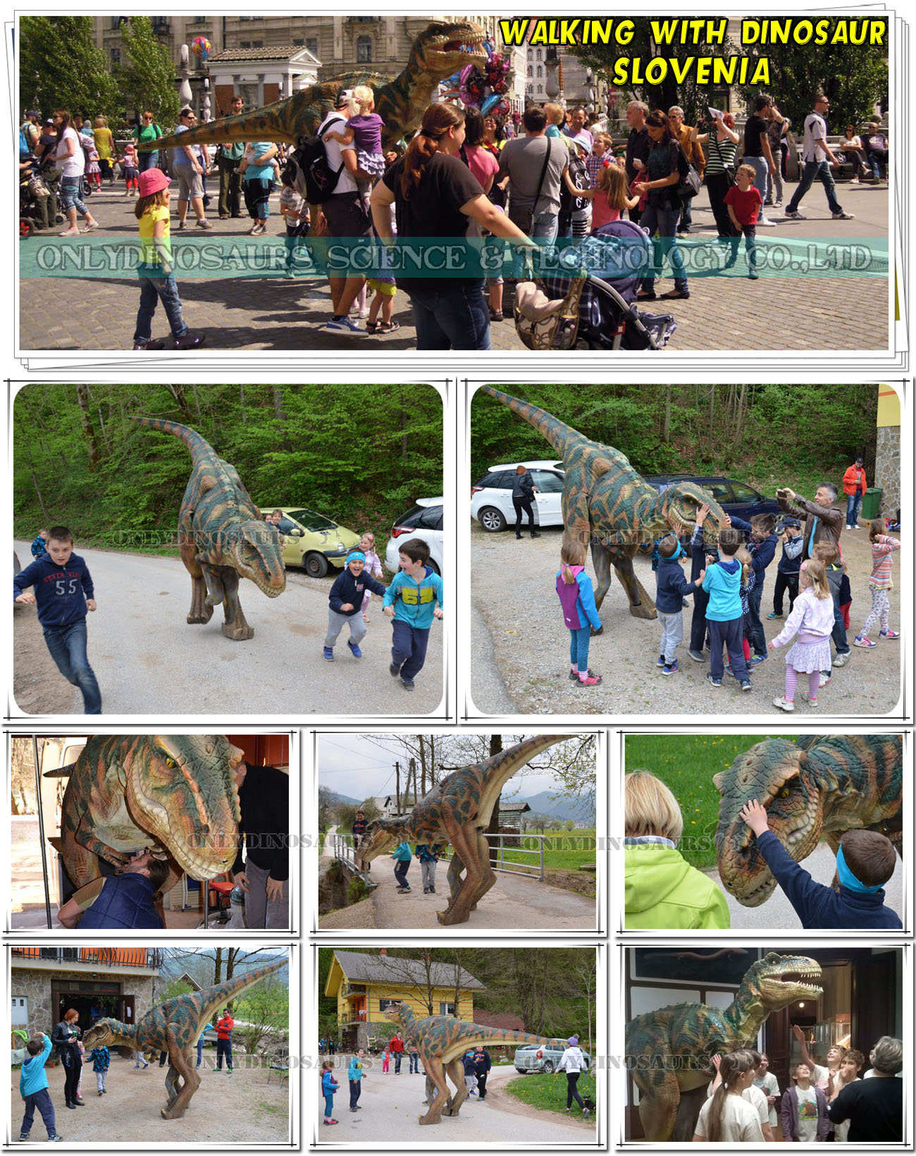 Walking Dinosaur Show in Slovenia