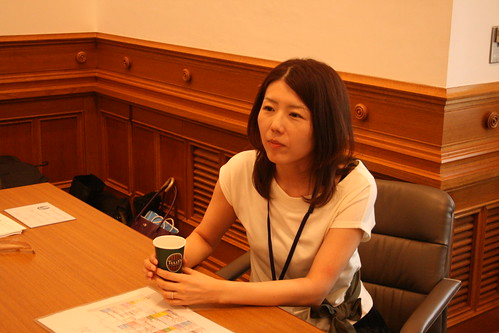 A moment of repose - Maki Sadahiro (Meiji Gakuin) takes her time off at the table.