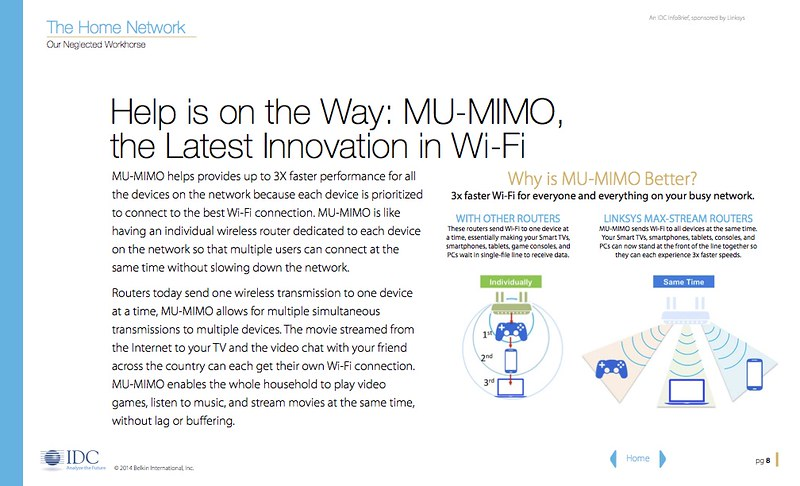 Why is MU-MIMO Better? (Credits: Belkin International)