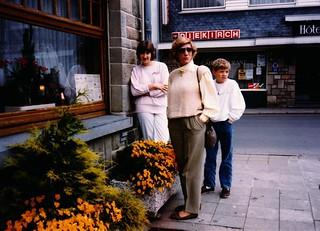 Belgium   -   St. Vith    -    Lunch   -   Jessica, Jeb & Me   -   June 1987