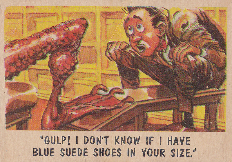 """""""You'll Die Laughing"""" Topps trading cards 1959,  illustrated by Jack Davis (21)"""
