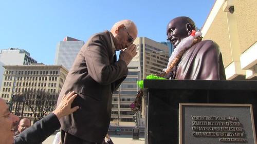 Gandhi Garlanding Ceremony