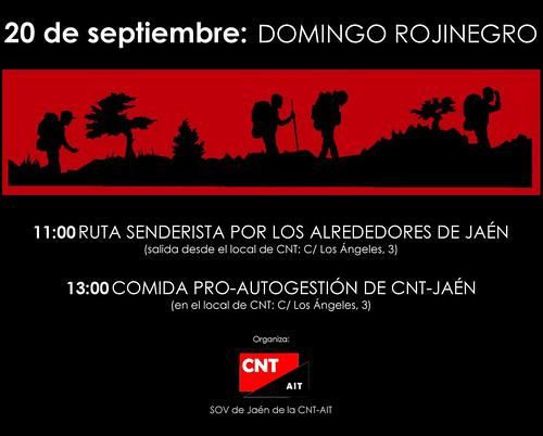 20 de septiembre: domingo rojinegro