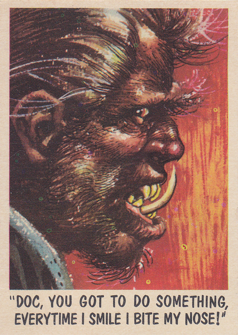"""You'll Die Laughing"" Topps trading cards 1959,  illustrated by Jack Davis (49)"