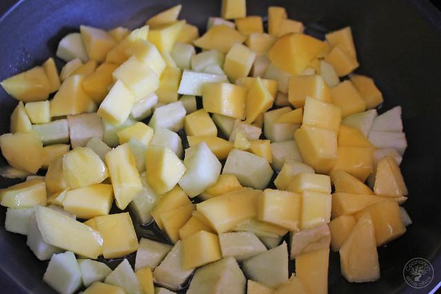 Atún con manzana y mango al aroma de Barbadillo www.cocinandoentreolivos.com (4)