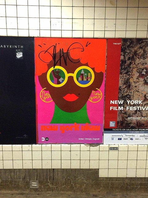 cool poster in the subway