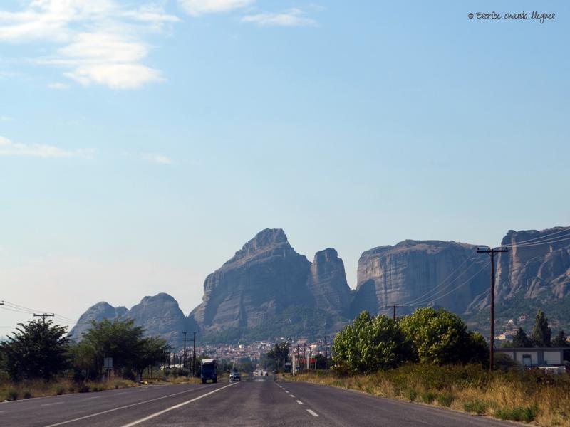 De camino con el coche a Meteora