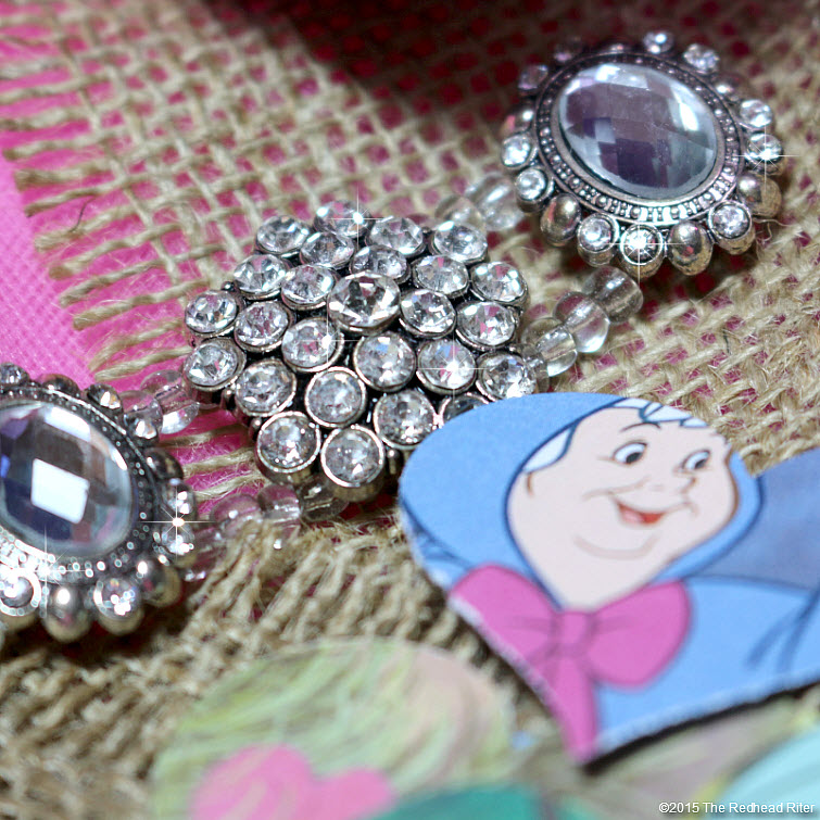 redhead riter jewels burlap fairy tale