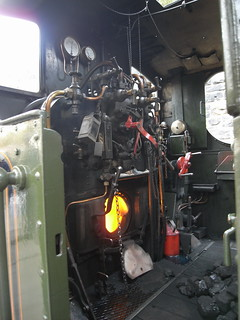 inside the cab of GWR pannier tank 6430
