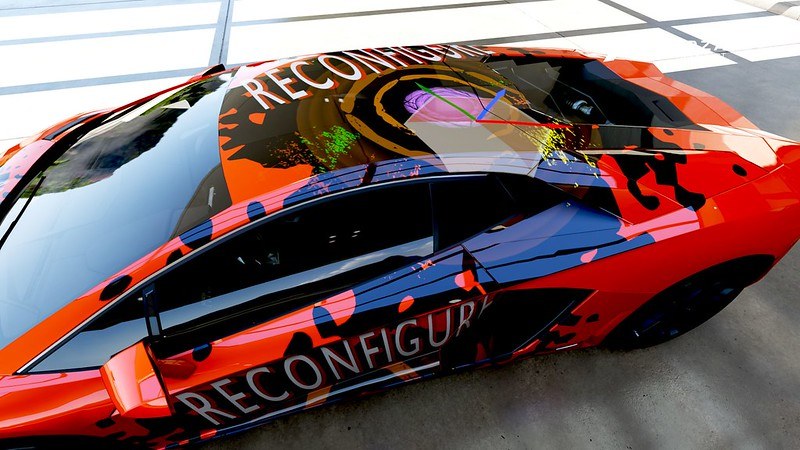 Reconfigure book paintwork on a lambo