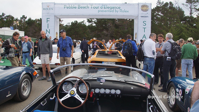 Start of the Pebble Beach Tour d'Elegance 2015