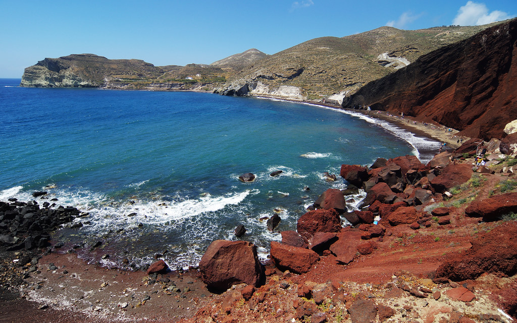 Red beach in Akrotiri