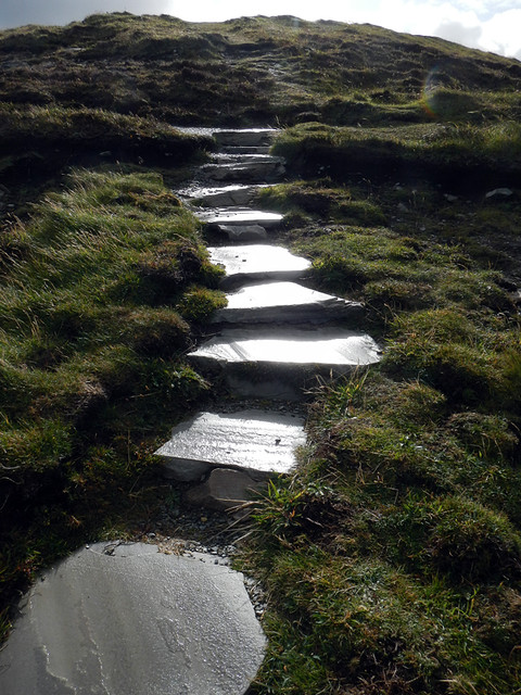 A Stone Path Leads Upwards at Malin Head in Ireland