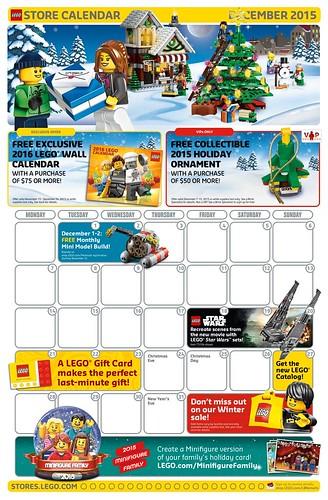 LEGO Store Calendar December 2015