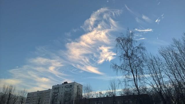 ноябрьское небо  | ХорошоГромко.ру