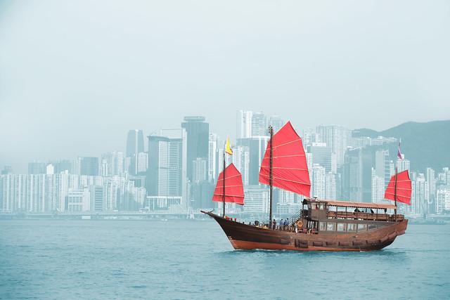 Hong Kong harbour Aqua Luna