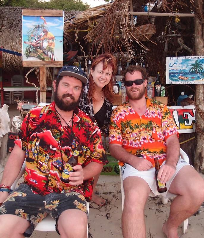 Me n the Aussies at Playa Blanca