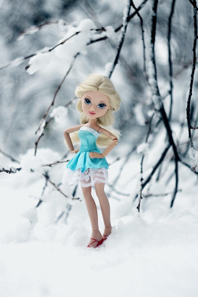 first snow. Moxie Doll