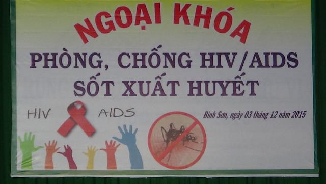 Ngoại khóa Phòng-Chống HIV, Sốt xuất huyết.