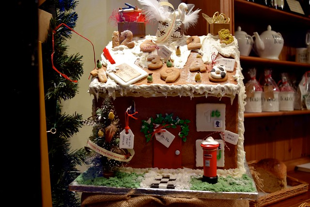 Gingerbread House in Tiny Tim's Christmas Window, Canterbury | www.rachelphipps.com @rachelphipps