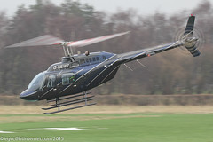G-NEWZ - 1998 build Bell 206B Jet Ranger III, outbound from Barton as Pipeline 68