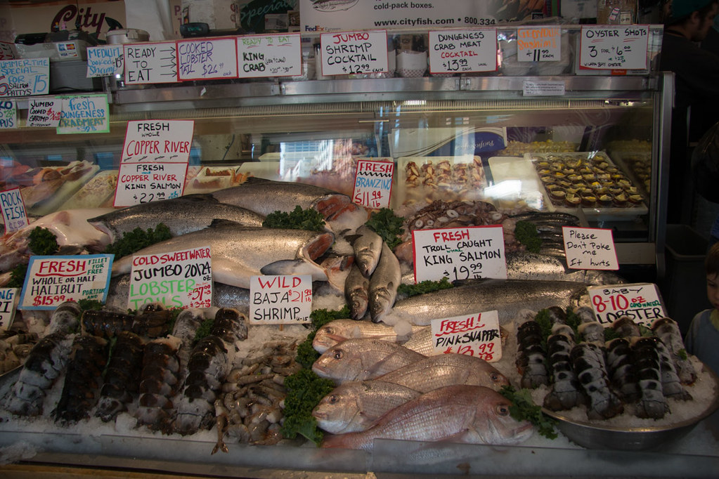 Fish market at Pike Place Market