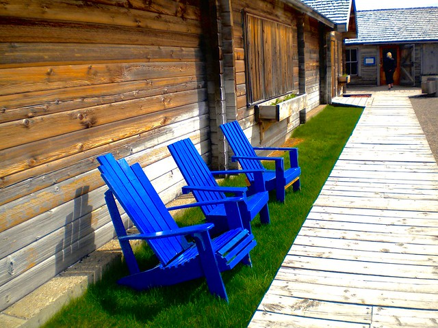 Blue Chairs, Nikon COOLPIX S220