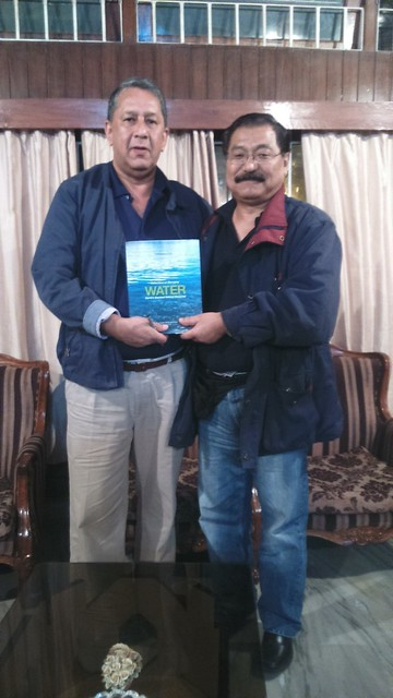 Water Book being Presented to Khekeiye K. Sema, retd. IAS & Activist fro Nagaland.JPG