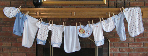 Clothesline Baby Shower Decorations Baby Clothes And Design