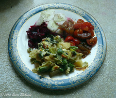 Lunch made from garden produce