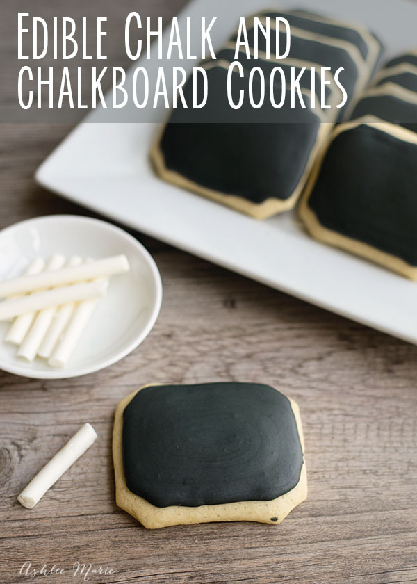 chalkboard cookies and edible chalk are easy to make and super fun to play with! perfect for a back to school party or an in class treat and craft