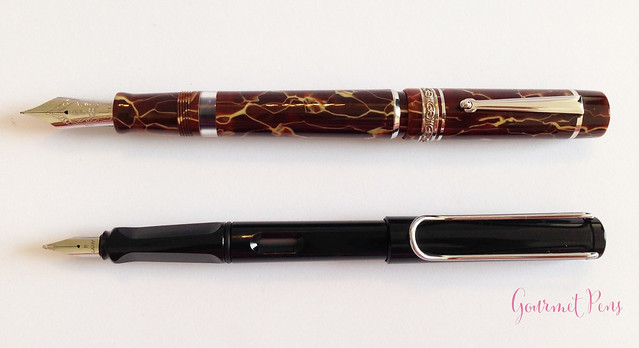 Review Delta Stantuffo Marmo Incrinato LE Fountain Pen @ChatterleyLux (4)