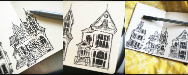 Sketch houses 2