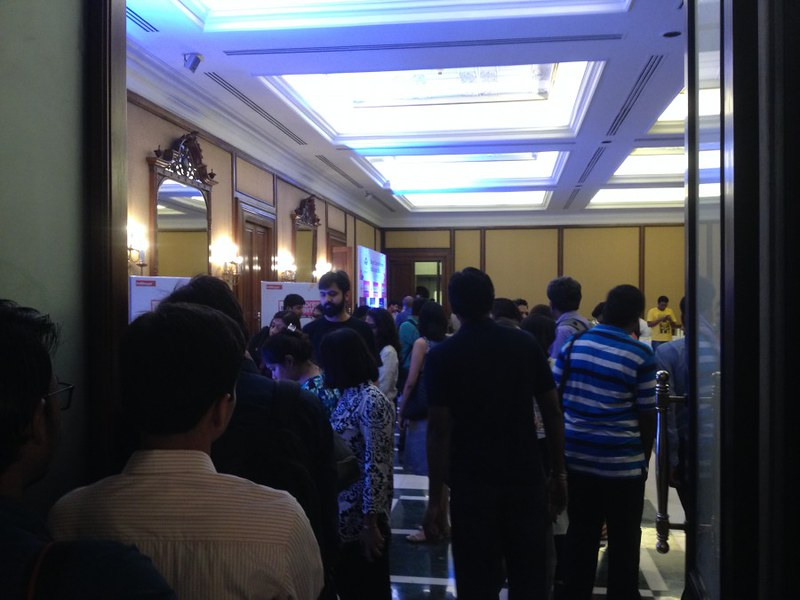 Entrance of Ball Room of Grand Hotel - Berger Express Painting IndiBlogger Meet 2015 at The Oberoi Grand, Kolkata