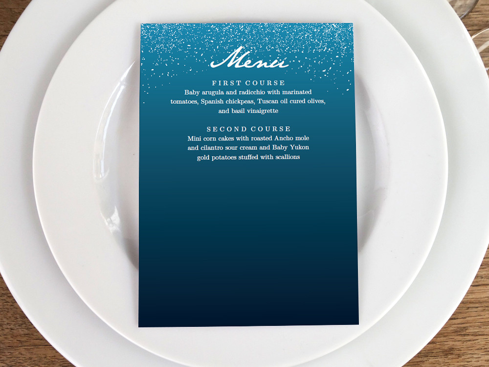 picture regarding Starry Night Printable known as Printable Menu Template - Starry Night time Obtain out of the blue