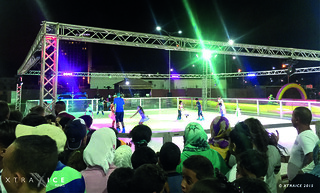 Synthetic ice rink in Algeria