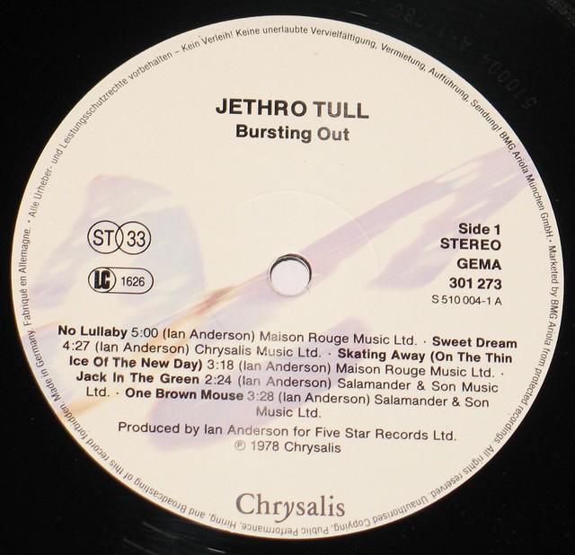 Jethro Tull - Bursting Out Live 2LP