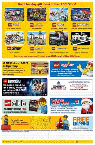 LEGO November 2015 Store Calendar