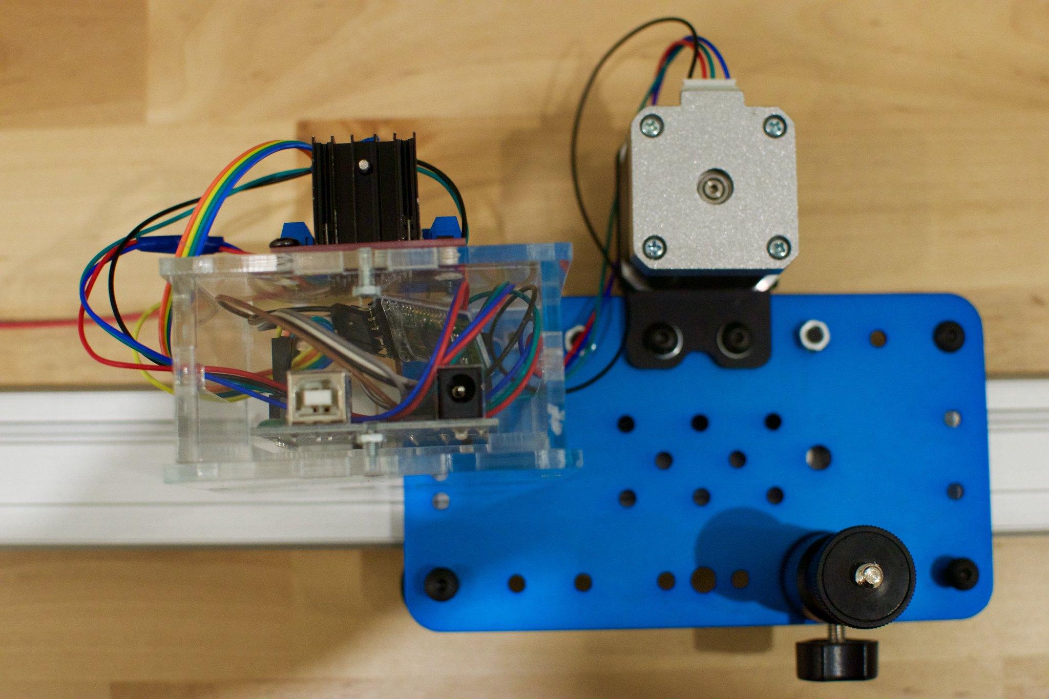 Motorised dslr slider for Stepper motor camera slider