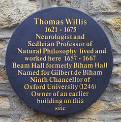 Photo of Thomas Willis slate plaque
