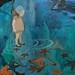 浅水与海星,60×70cm,布面油彩,2015年 by Chenyang Liu(Christina)