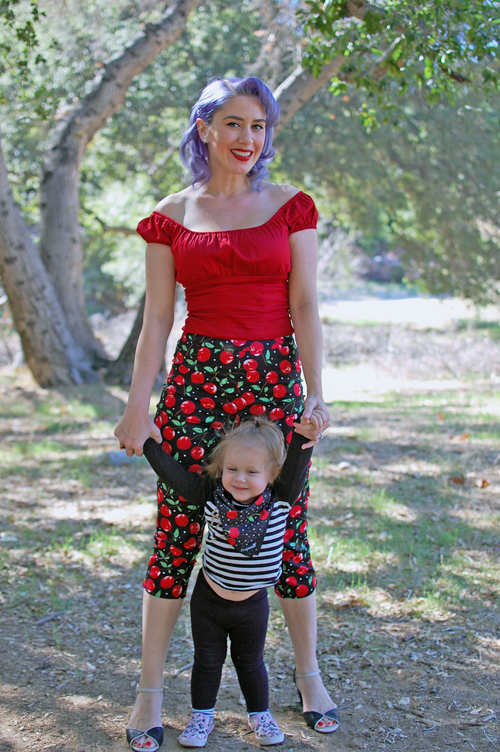 Sourpuss Cherry Pie Peggy Capri Pants
