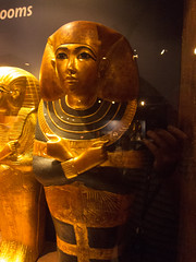 Golden sarcophagus for child