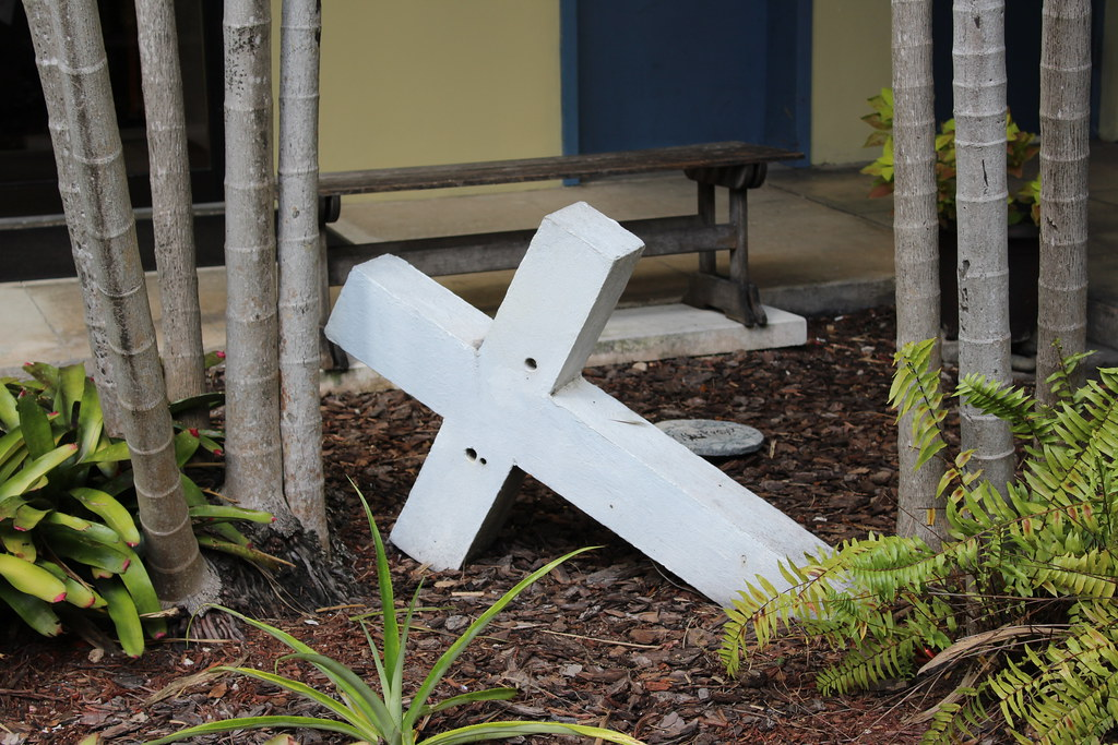 Cross Form White Temple Garden United Methodist Church Downtown Miami