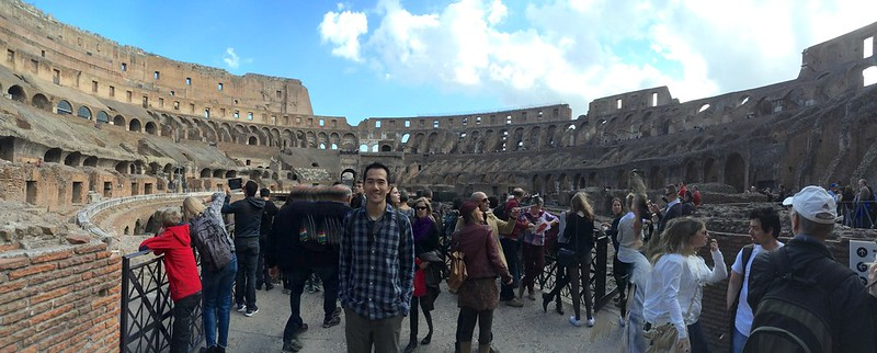 Panorama portrait in Colosseum.