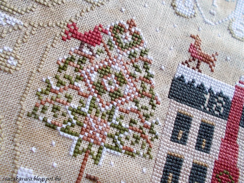 lone elm lane, snow angel, christmas, cross stitch (5)