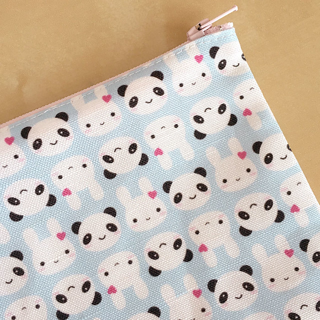 Bunny and Panda pencil case