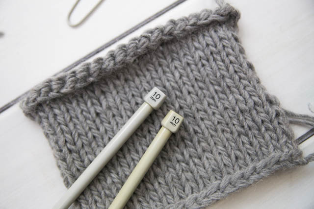 knitting with 10mm needles